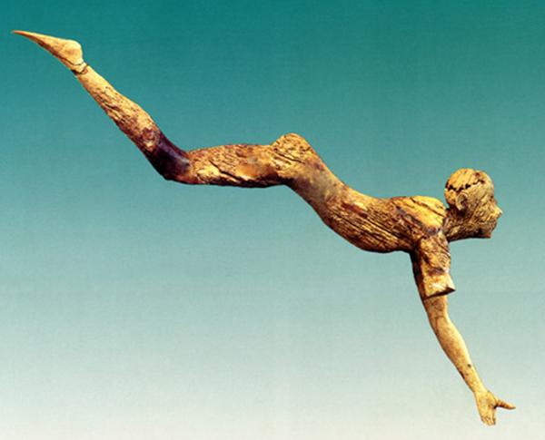 ныряльщик с острова Крит, дворец в Кноссе - 1550 г. до н.э.