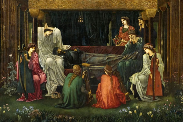 Edward_Burne-Jones.The_last_sleep_of_Arthur=Король Артур, спящий вечным сном на Авалоне