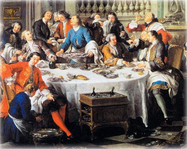 Жан Франсуа де Труа. Завтрак с устрицами, 1737. Музей Конде.