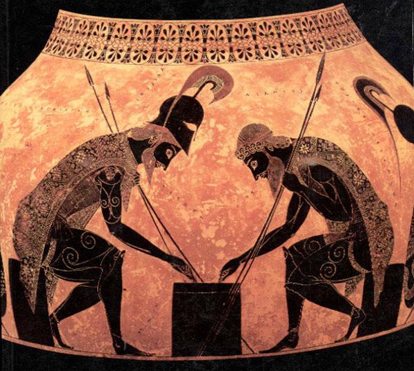 Ахиллес и Aйякс, играют в кости