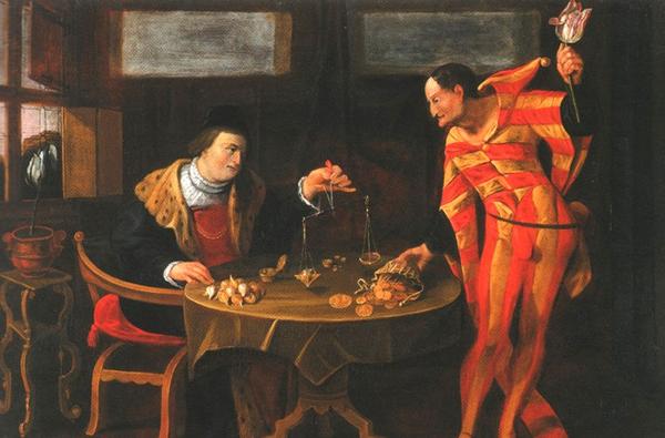 0-Торговец и тюльпаноман.