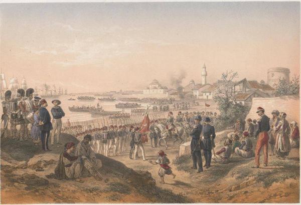 1855-Высадка турецкой армии Омер-Паши в Евпатории