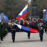 В Евпатории поднят Российский флаг Победы