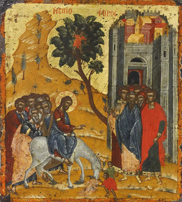 01-Вход Господень в Иерусалим-икона