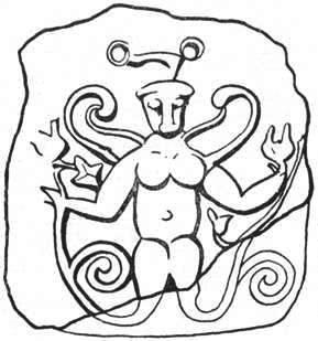 Белый бык в образе змееногой скифской богини земли в Херсонесе. Античная Таврия
