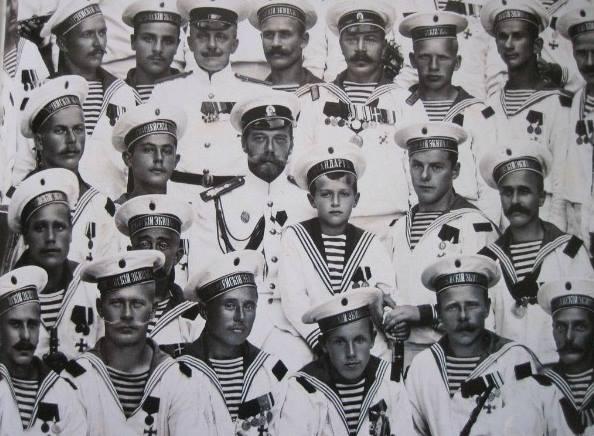 1916 г. Визит Императора Николая II-к морякам черноморцам-25 кораблей