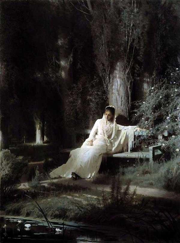 «Лунная ночь», 1880. Крамской Иван (1837-1887)