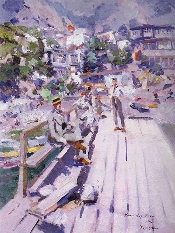 «Пристань в Гурзуфе», 1916. Коровин Константин (1861-1939)