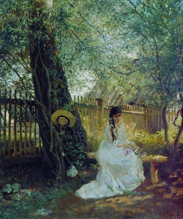 «В саду». 1870. Маковский Константин (1939-1915)