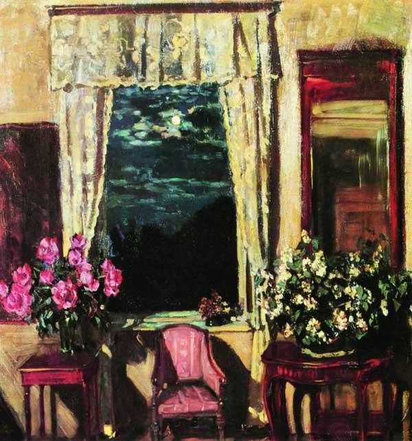 «Лунная ночь. Жасмин и пионы», 1929. Жуковский Станислав (1875-1944)