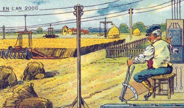 001-Машина, убирающая урожай.
