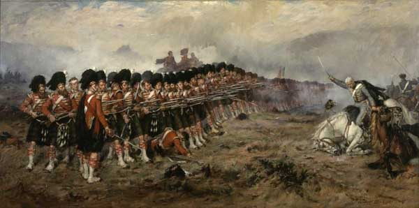 Тонкая красная линия , картина Роберта Гиббса.