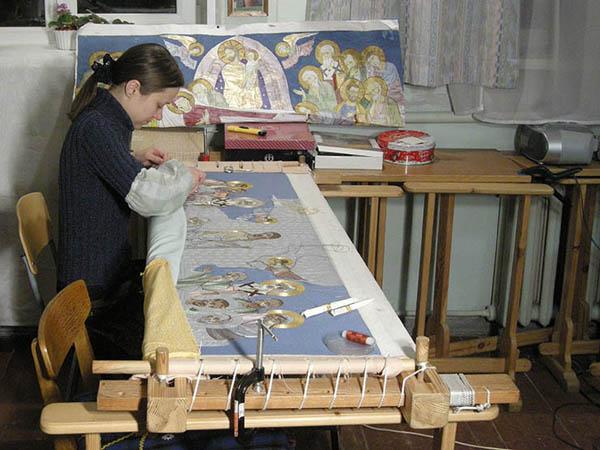 00- искусств0олицевого шитья в Строгановских мастерских -работа