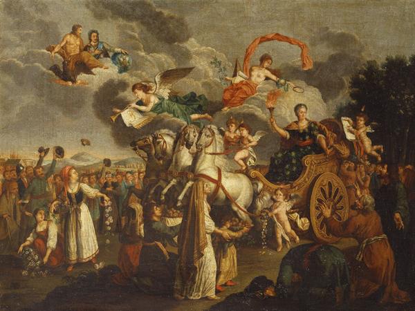 1787-Екатерина-2-путешест по Крыму