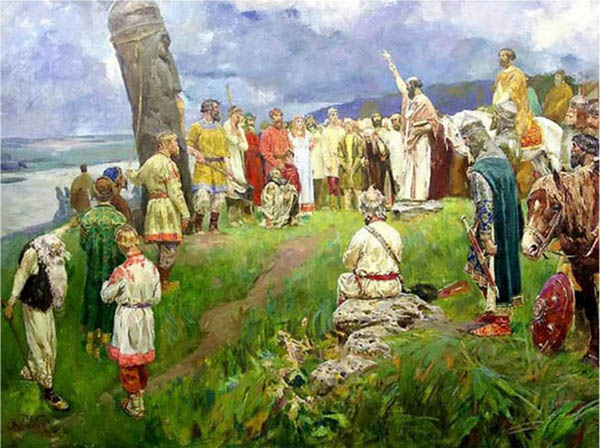 Идол-свержение Перуна христианами