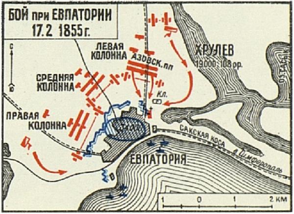 карта боя 1855