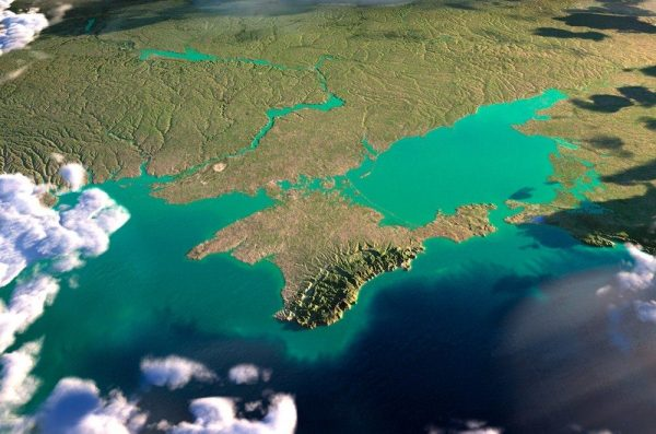 карта-Crimea from Space.