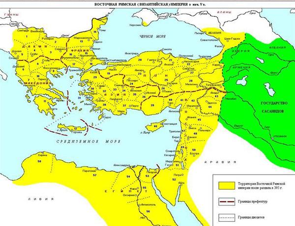 карта-византийская империя