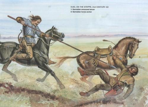 сарматские воины IV в. до н.э. - III в. н.э.,-06