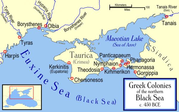 карта-таврика- 450 г . до н.э.
