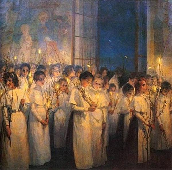 Серафима Блонская — Девочки. Вербное воскресение. 1900 г.