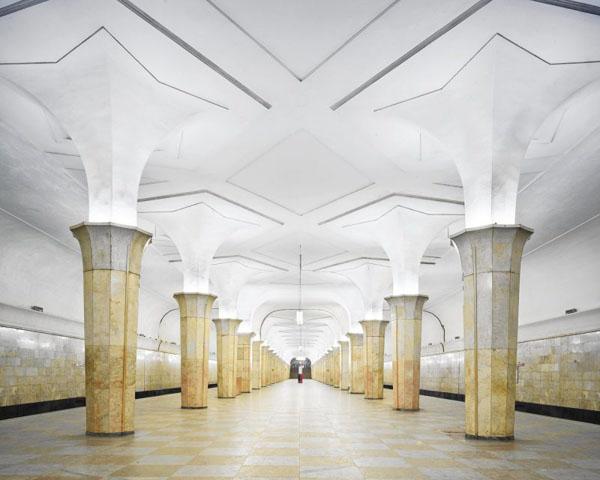 """Московское метро, станция """"Кропоткинская"""", построенная по проекту Алексея Душкина,"""