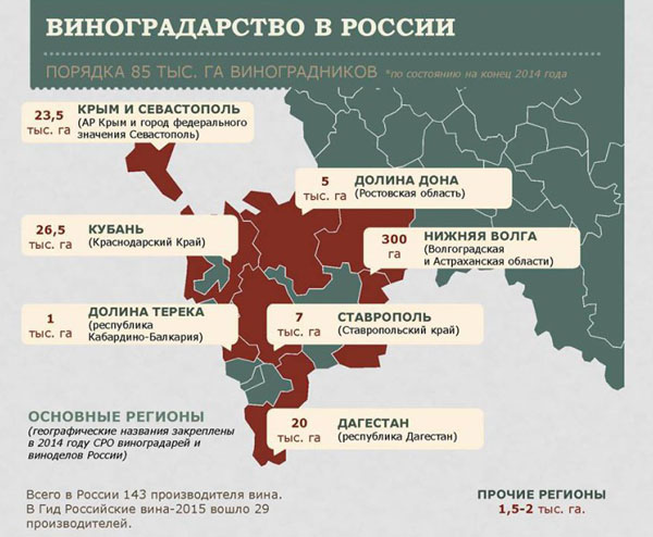 Виноградорство России
