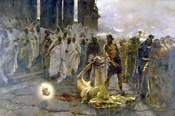 Энрике Симоне, «Усекновение главы св. Павла». 1887 год.