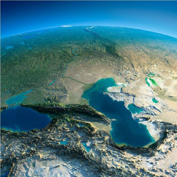 кавказ-вид изкосмоса