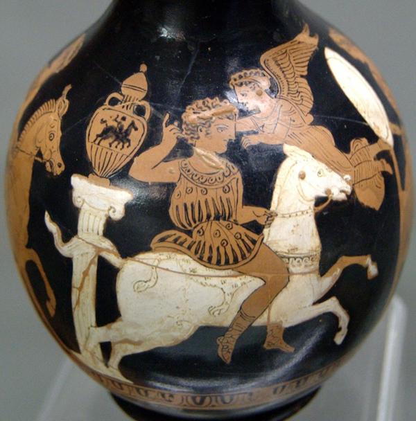 панафенийская амф-Ника коронует побед-всадника- 4 в. до н.э.