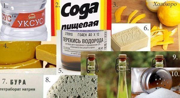 10 натуральных средств, которые могут заменить дорогую бытовую химию.
