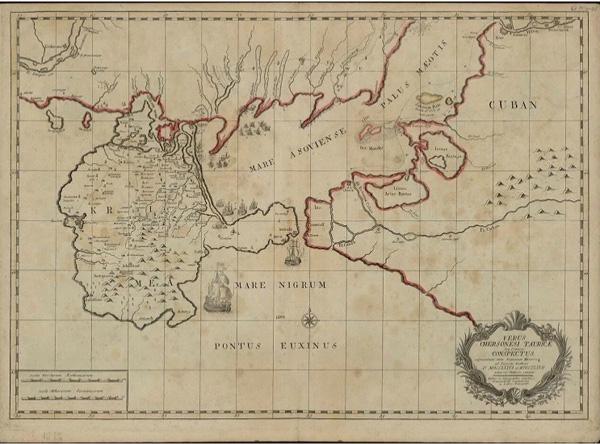 Карта Крыма 1772 г