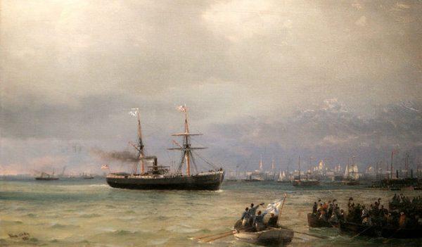 Корабль помощи. 1892г. Автор: И.К.Айвазовский.