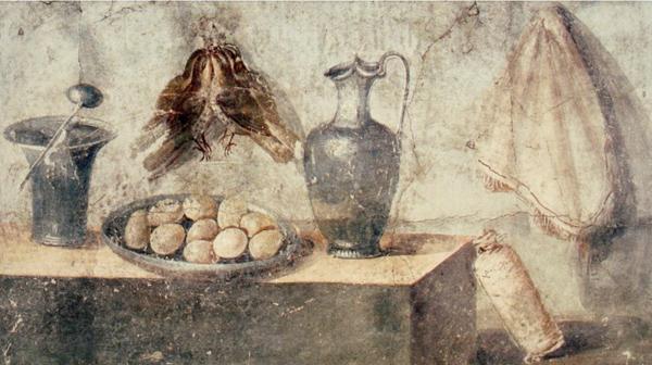 Примерно так мог выглядеть ужин древнего жителя Акры, как римский дом Юлии Феликс, Помпеи.