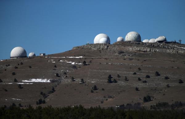 Комплекс радиолокационных станций (РЛС) на вершине Ай-Петри
