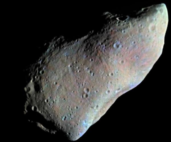 Снимок астероида Гаспра с межпланетной станции Галилео