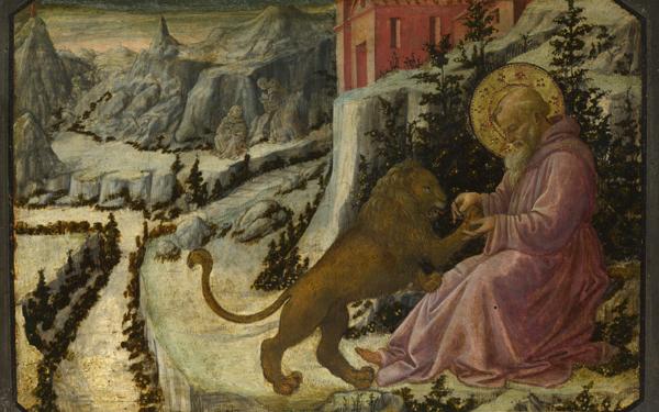 Филиппо Липпи. Святой Иероним и Лев