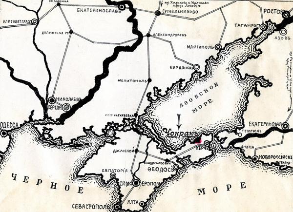 карта-озеро чокрак