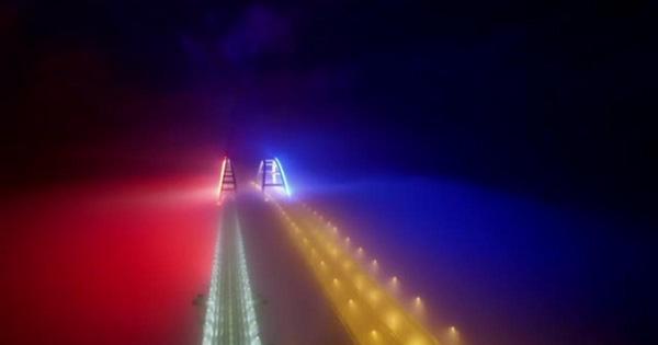 мост-свет-туман