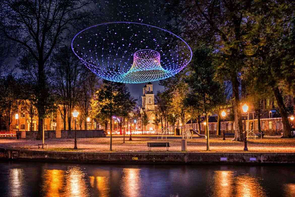 Amsterdam Light Festival Parabolic-Lightcloud_