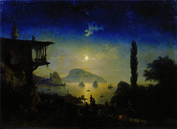 гурзуф-лунная ночь - айвазовский