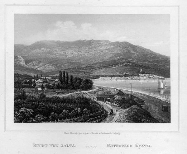 старин. гравюры с видами Крыма