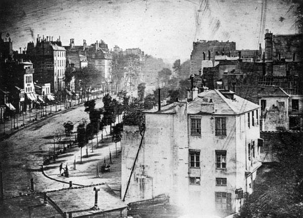 Бульвар Парижа в 1838 году Луи Дагерра