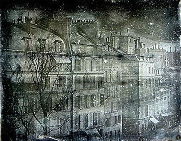 Фото Луи Дагерра - вид из его дома.1838г.