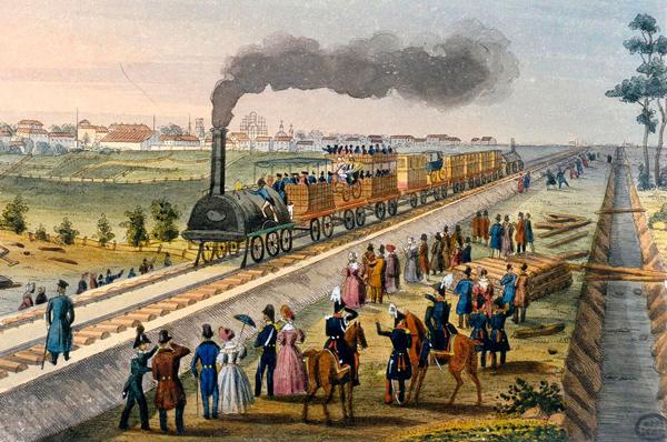 В день открытия Царскосельской железной дороги в октябре 1837 г