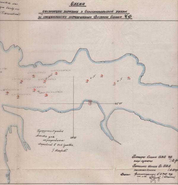 00-Схема диспозиции кораблей в Севастопольской бухте