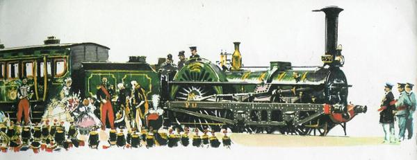 Train impérial vers 1854 sous Napoléon III.