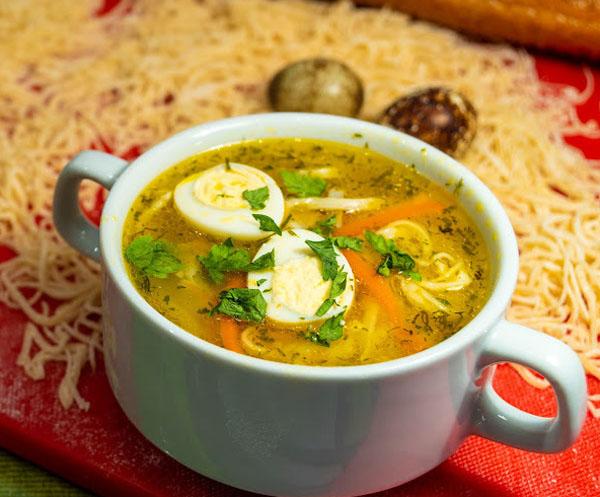 Суп-лапша с петрушкой