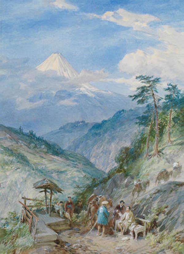 симпсон-акварель фудзияма - 1889