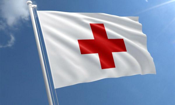 флаг красный крест
